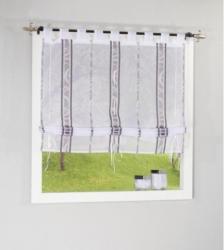 Bändchenrollo Klara, grau, ca. 100 x 140 cm