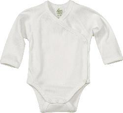 ALANA Baby-Wickelbody, Gr. 42/44, in Bio-Baumwolle, natur, für Mädchen und Jungen