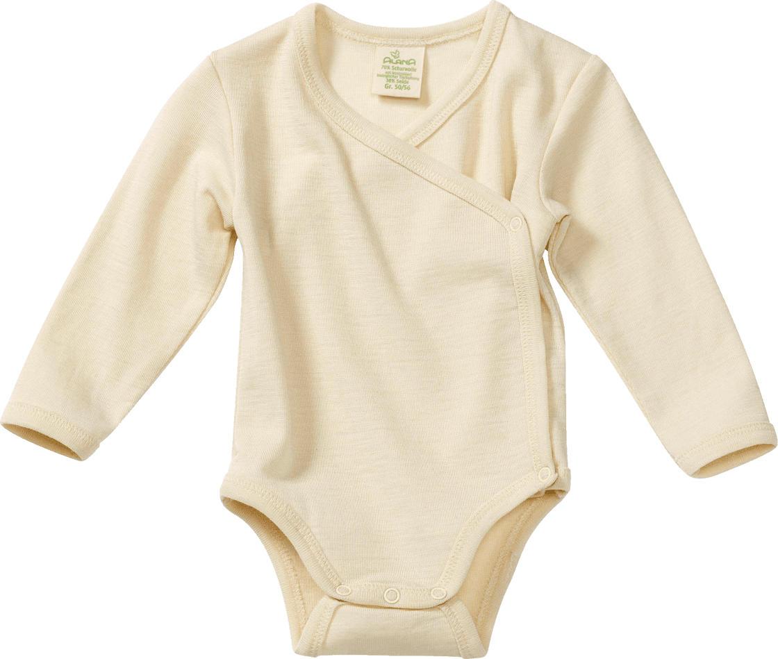 info for a63af fc7b9 ALANA Baby-Wickelbody, Gr. 50/56, in Bio-Wolle und Seide, natur, für  Mädchen und Jungen