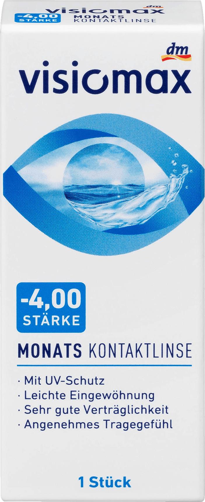 16e2893f54adf4 VISIOMAX Monatslinse Dioptrie -4,00 nur 4,95 € - dm-drogerie markt ...