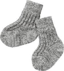 ALANA Baby-Socken, Gr. 18/19, in Bio-Schurwolle, grau, für Mädchen und Jungen