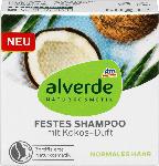 dm-drogerie markt alverde NATURKOSMETIK festes Shampoo mit Kokos-Duft