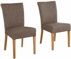 Home affaire Stuhl »Queen« im 2er-Set, bezogen mit Web- oder Strukturstoff, Microfaser oder Kunstleder