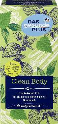 DAS gesunde PLUS Kräuter-Tee, Clean Body mit Zink, Zitronengras, Brennessel & grünem Tee (25x2g)