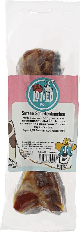 LOV&ED Snack für Hunde, Schinkenknochen