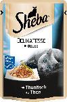dm-drogerie markt Sheba Nassfutter für Katzen, Delikatesse in Gelee, mit Thunfisch (MSC)