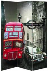 Paravent Jasmin B: 120 cm London Multicolor