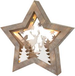 LED Holzstern mit Landschafts-Motiv