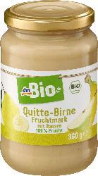 dmBio Fruchtmark Quitte, Birne & Banane