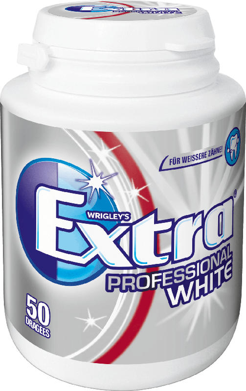 EXTRA Professional Kaugummi white, weiße Zähne