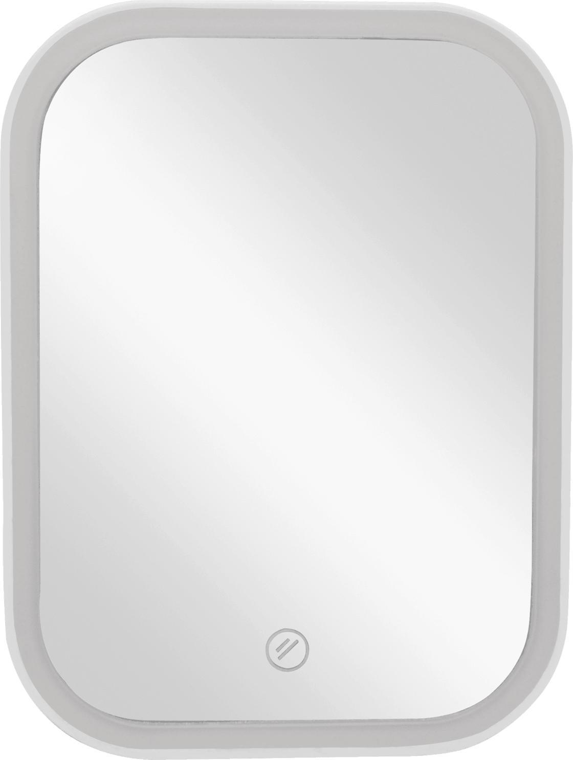 Soapland Standspiegel mit LED und weißem Rahmen, 1 St