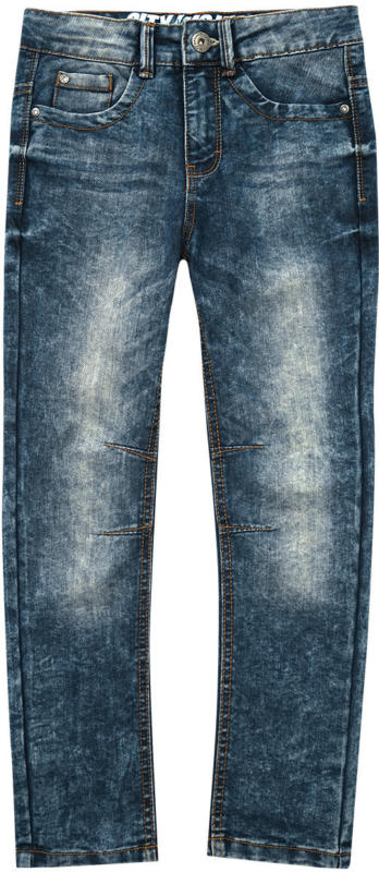 Jungen Straight-Jeans in Used-Waschung