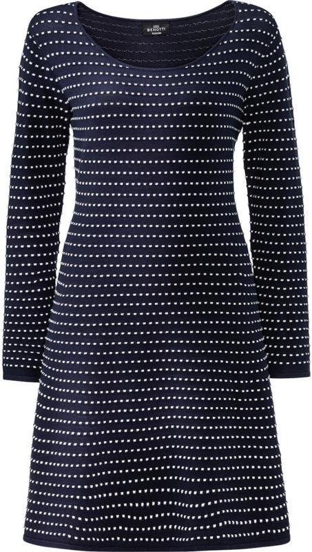 Damen Kleid mit strukturierter Musterung