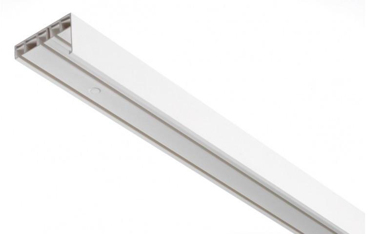 Gardinenschiene mit Blende, 3lfg., ca. 150 cm, weiß