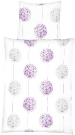 Baumwoll Bettwäsche Blüten weiß