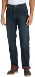 Eddie Bauer 5-Pocket-Jeans (Authentic Jeans mit Flanellfutter - Relaxed Fit)