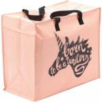 Möbelix Einkaufstasche Passage Rosa, Schwarz