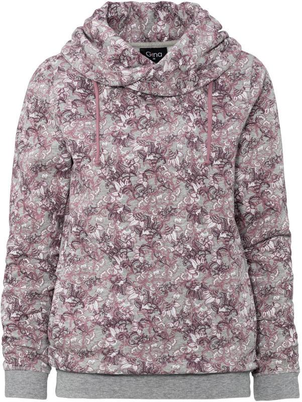 Damen Hoody mit floralem Muster