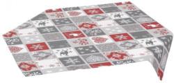 Mitteldecke mit weihnachtlichem Patchwork-Muster, ca. 80x80cm