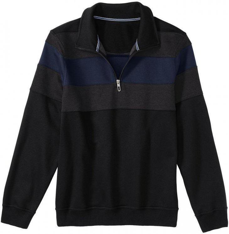 Herren-Sweatshirt mit breiten Farbstreifen
