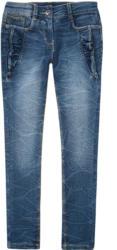 Mädchen Skinny-Jeans mit Rüschen