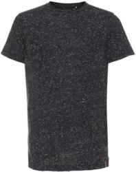 Gesprenkeltes Seitenreißverschluss T-Shirt
