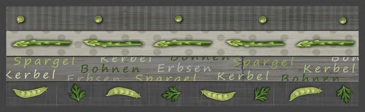 Teppich Velvet ca. 45 x 145 cm Spargel