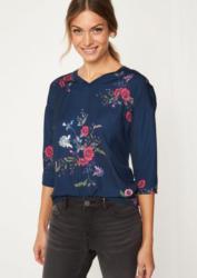COMMA 3/4-Arm Shirt im dekorativen Materialmix