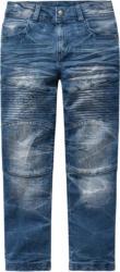 Jungen Straight-Jeans im Biker-Look