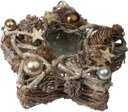 Weihnachtlicher Teelichthalter in Sternform