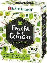 Bad Heilbrunner Tee, Frucht liebt Gemüse, Apfel & Spinat (15x2,2g)