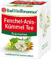 Bad Heilbrunner Fenchel-Anis-Kümmel Tee, 8 x 2 g