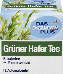 DAS gesunde PLUS Grüner Hafer Tee, 12x1,2g