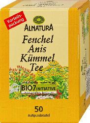 Alnatura Fenchel-Anis-Kümmel Tee, 50 x 2,5g