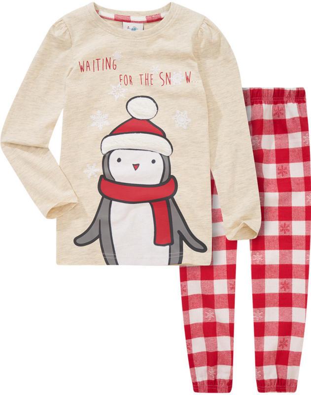 Mädchen Schlafanzug mit Weihnachtsmotiv
