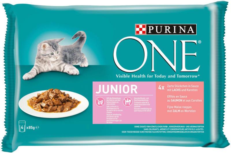 Purina ONE Junior Saumon 4x85g