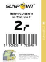 Sunpoint Rabatt-Gutschein