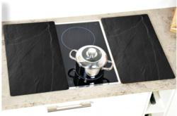Glas-Abdeckplatte 2-er Set Schiefer