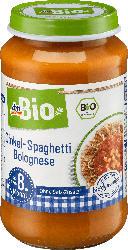 dmBio Menü Dinkel-Spaghetti Bolognese ab dem 8. Monat, Demeter