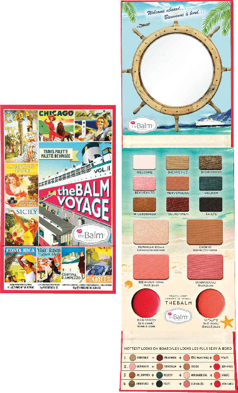theBalm Rouge, Lippen & Lidschatten Palette Balm voyage 2