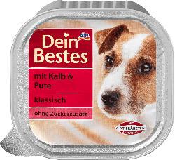 Dein Bestes Nassfutter für Hunde mit Kalb & Pute, klassisch