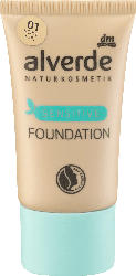 alverde NATURKOSMETIK Make-up Foundation Sensitive Porcelain 01