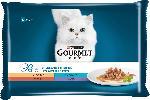 dm-drogerie markt GOURMET Nassfutter für Katzen, Perle Erlesene Streifen mit Truthahn, Thunfisch, Ente und Lamm, Multipack 4x85g