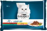 dm-drogerie markt GOURMET Nassfutter für Katzen, Perle Erlesene Streifen mit Rind, Huhn, Kaninchen und Lachs, Multipack 4x85g