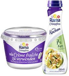 Rama Cremefine zum Verfeinern, zum Kochen oder zum Aufschlagen, jeder 200-g-Becher/jede 250-ml-Flasche