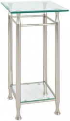 Beistelltisch In Metall, Glas