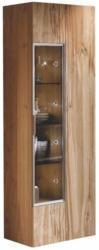 Vitrine In Furniert, Mehrschichtige Massivholzplatte (Tischlerplatte) Altholz, Eiche Eichefarben
