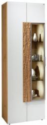 Vitrine In Furniert, Massiv, Mehrschichtige Massivholzplatte (Tischlerplatte) Altholz, Eiche Weiß, Eichefarben