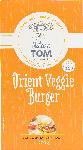 dm-drogerie markt Nature Tom Fertiggericht Burger orient veggie, vegetarische Bratlinge auf Basis von Tofu, Kichererbsen & Möhren