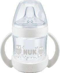 Nuk Trinklernflasche Nature Sense mit Trinktülle aus Silikon, 150ml, ab 6 Monate, weiß